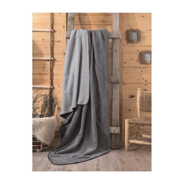 Šedá deka Stripe, 200x220cm