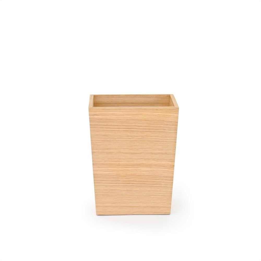Produktové foto Malý odpadkový koš zdubového dřeva Wireworks, výška 28cm