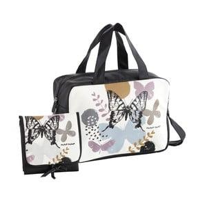 Set černé tašky na kočárek a přebalovací podložky Naf Naf Butterfly