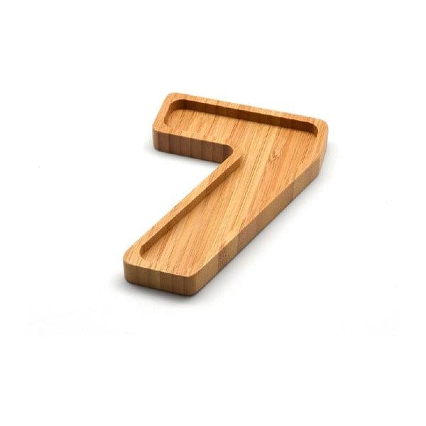 Bambusový servírovací talířek Bambum Numero Seven