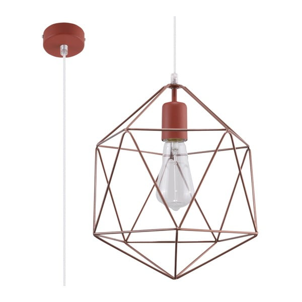 Stropní svítidlo v měděné barvě Nice Lamps Donato