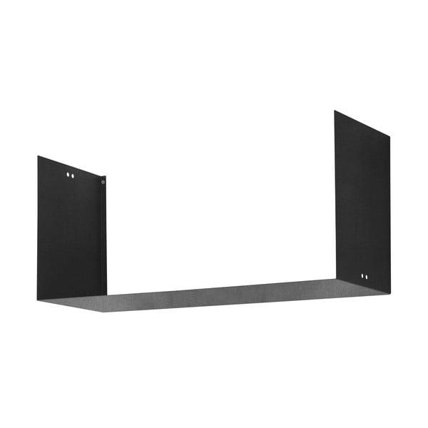 Nástěnná police Geometric Three, černá