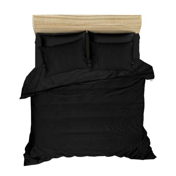 Povlečení Aran Clasy  Jacquard Black, 200x220cm