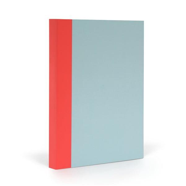 Zápisník FANTASTICPAPER A5 Skyblue/Warm Red, řádkovaný