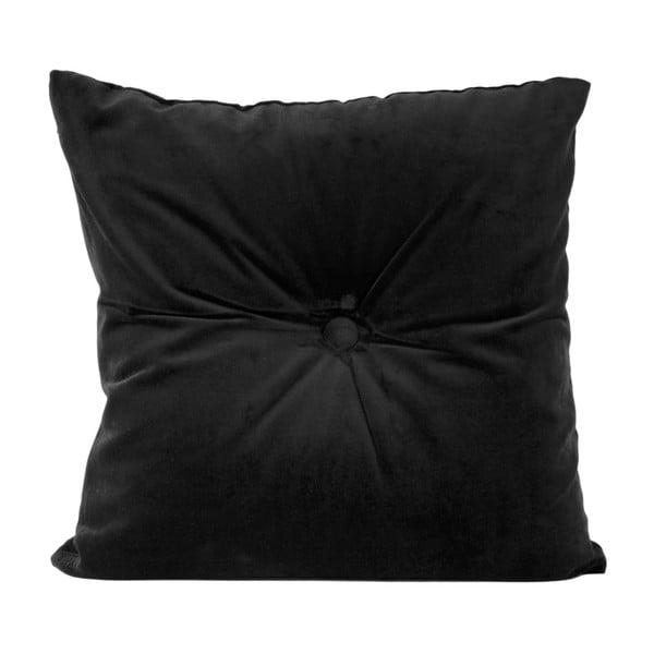 Czarna poduszka bawełniana PT LIVING, 45x45 cm