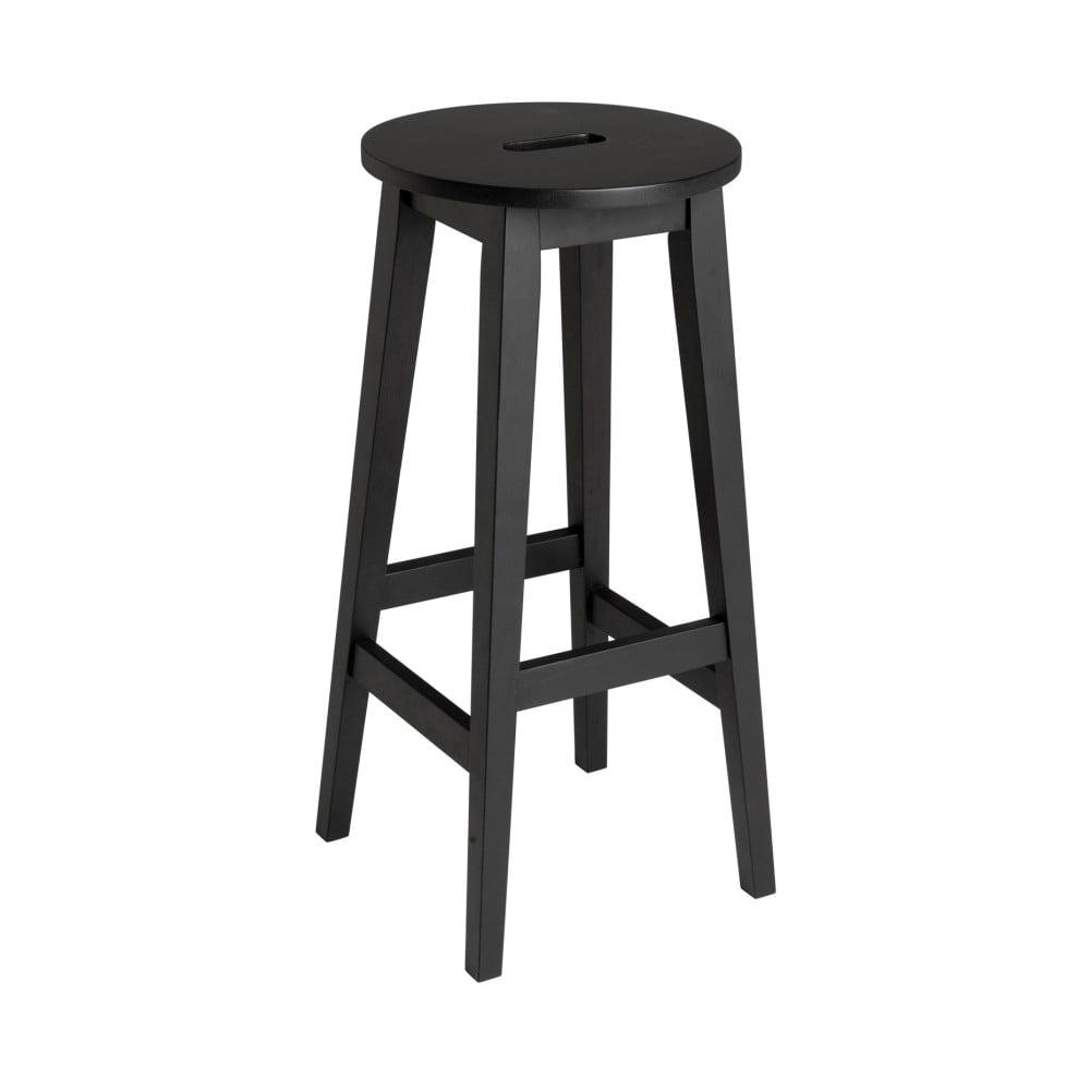 Černá barová stolička z dubového dřeva Folke Frigg