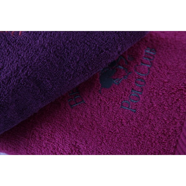 Sada 3 fialových ručníků BHPC, 50x100 cm