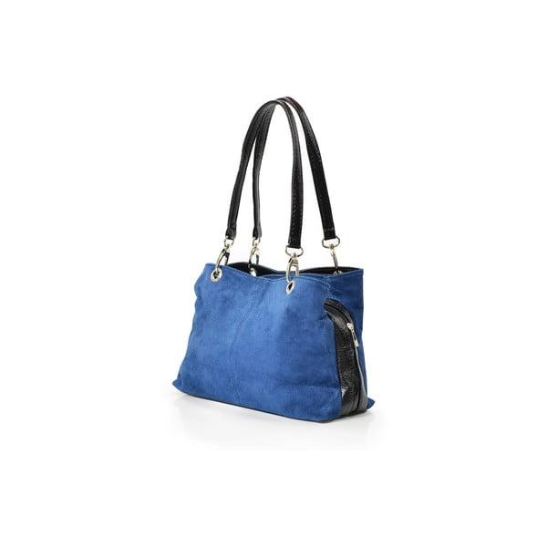 Kožená kabelka Giselle, modrá