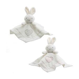 Sada 3 dětských mazlicích deček s plyšáky Unimasa Rabbits,30x30cm