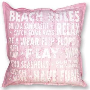Polštář Beach 45x45 cm, růžový