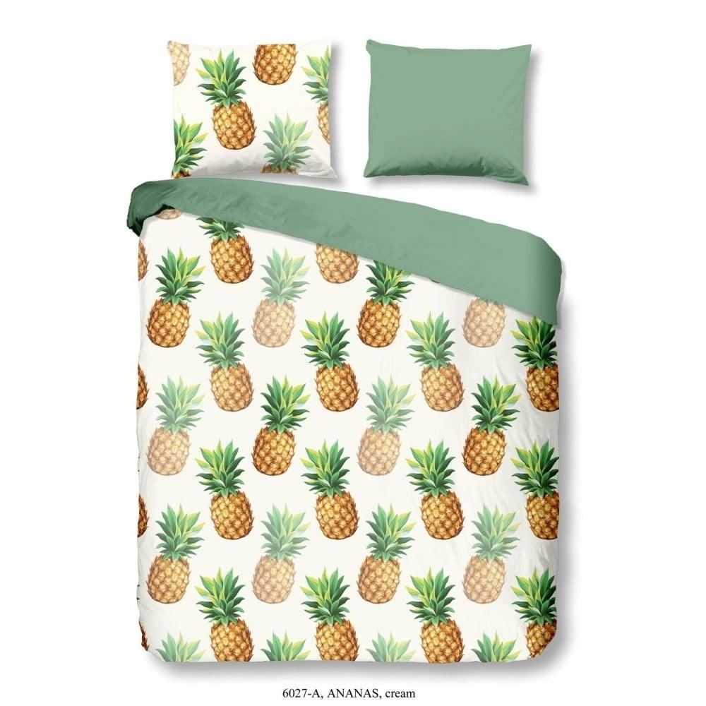 Povlečení na jednolůžko z bavlny Good Morning Premento Ananas, 140 x 200 cm