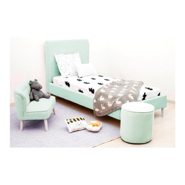 Dětská zelená postel PumPim Mia, 200x90cm