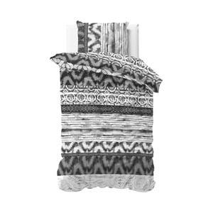 Šedé povlečení Sleeptime Sweet Shibori Retro, 140 x 220 cm