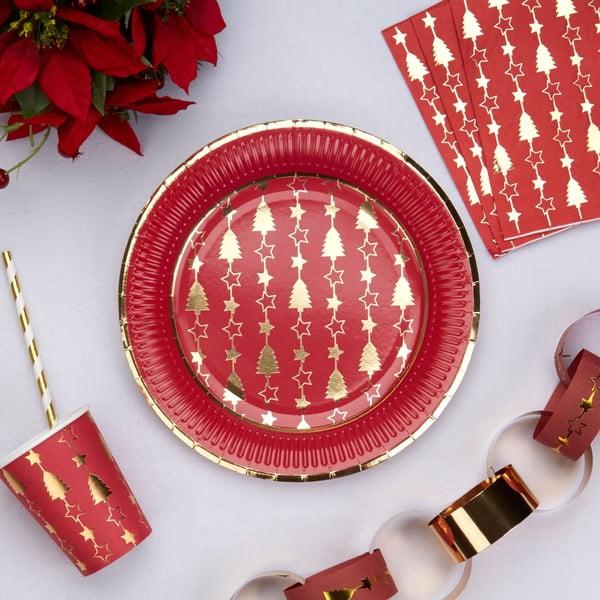 Set 8 farfurii din hârtie Neviti Dazzling Christmas
