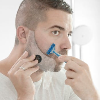 Șablon pentru tuns barba InnovaGoods Hipster Barber poza