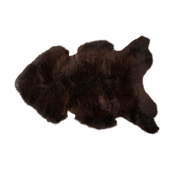 Pravá ovčí kůže s krátkým vlasem 110x70 cm, tmavě hnědá