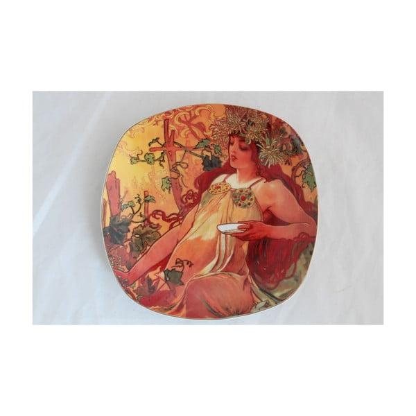 Alfons Mucha - sada 6 dezertních talířků Podzim