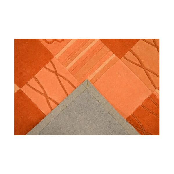 Ručně tkaný koberec Calypso, 70x140 cm, oranžový