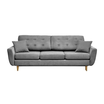Canapea extensibilă cu 3 locuri Cosmopolitan design Barcelona, gri deschis