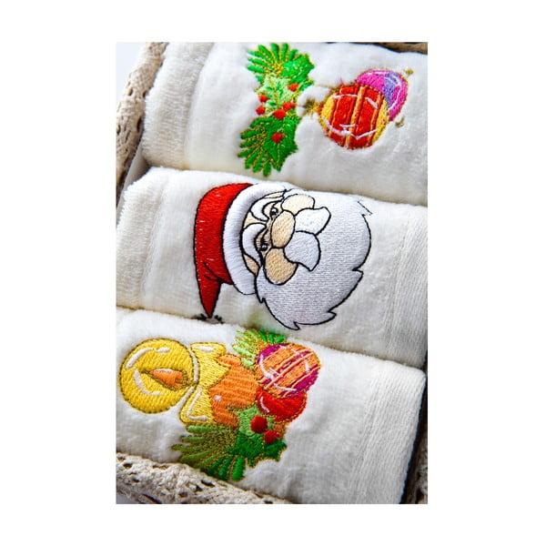 Sada 3 ručníků v dárkovém balení, 30x50 cm