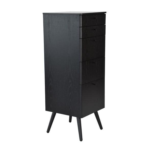 Kancelářské zásuvky Niles, 87x40 cm, černé