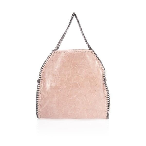 Kožená kabelka Rhona, růžová