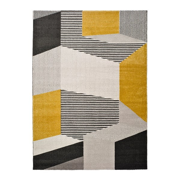 Elle Multi sárga-szürke szőnyeg, 160 x 230 cm - Universal