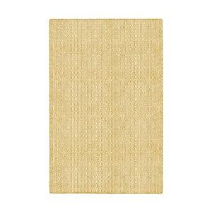 Žlutý oboustranný koberec vhodný i do exteriéru Green Decore Viva, 140 x 200 cm