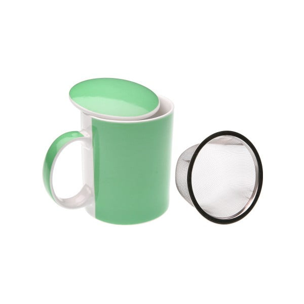 Cană cu sită Versa Green Tea Mug, verde