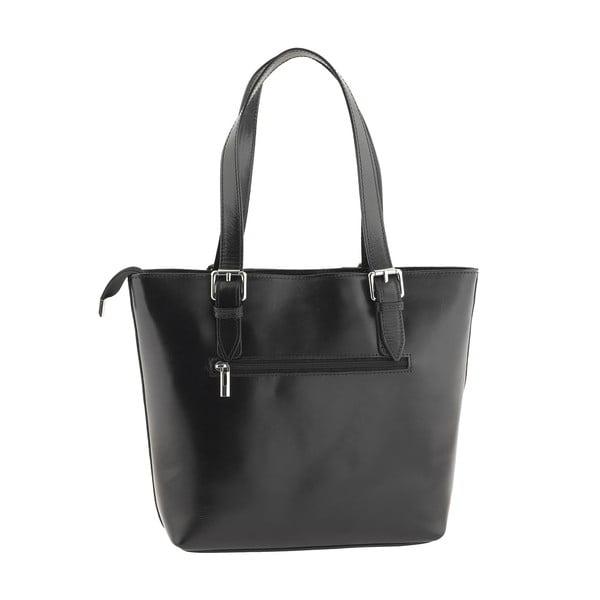 Kožená kabelka Italian Lady, černá
