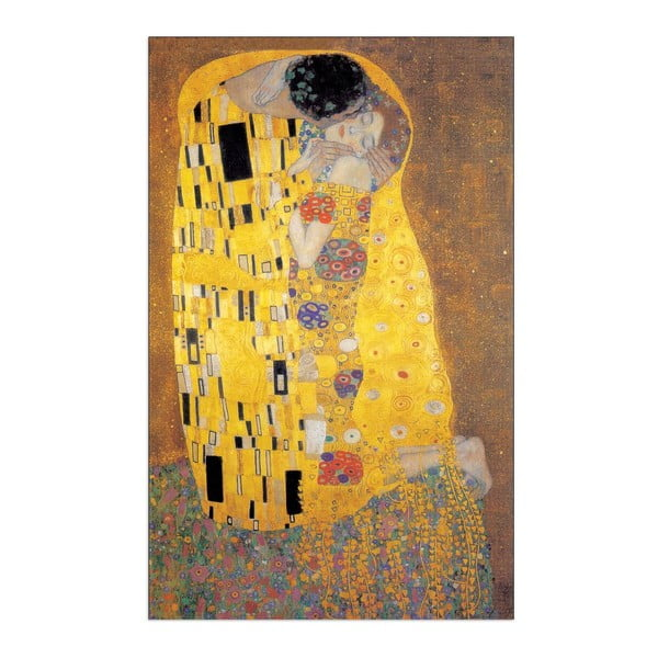 Obraz Klimt - The Kiss, 60x90 cm
