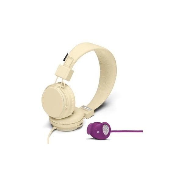 Sluchátka Plattan Cream + sluchátka Medis Grape ZDARMA