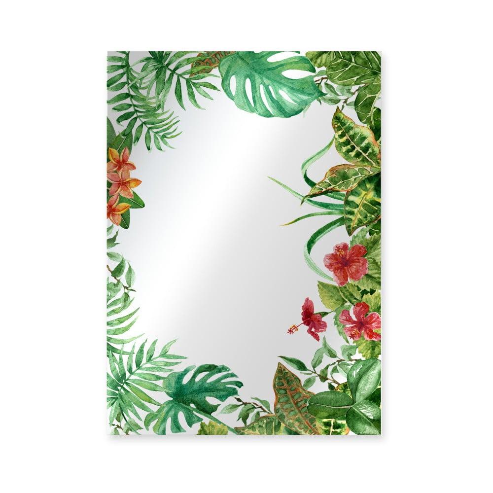 Nástěnné zrcadlo Surdic Espejo Decorado Tropical Monstera Frame, 50 x 70 cm