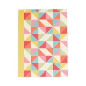 Zápisník A6 Rex London Multicolour Geometric