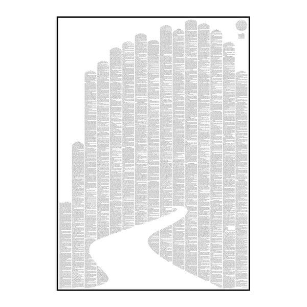 Knižní plakát Čaroděj ze země Oz, 50x70 cm