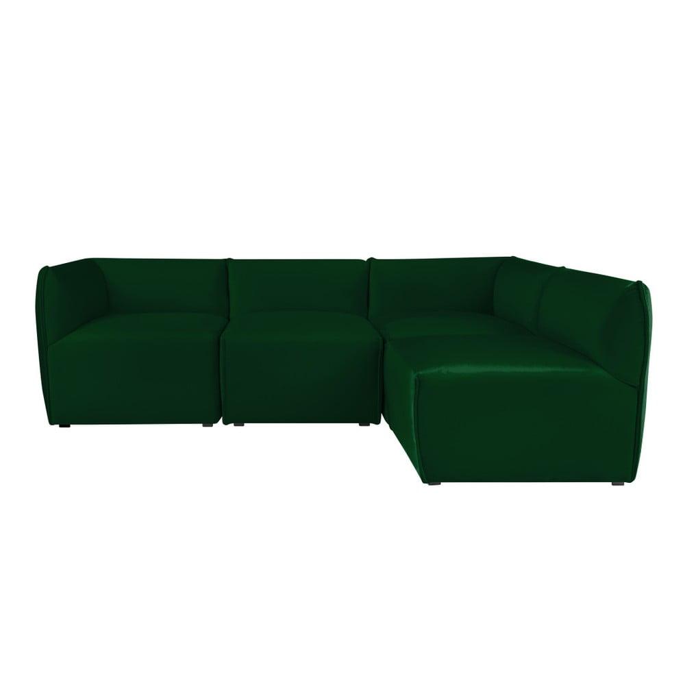 Zelená modulová rohová třímístná pohovka Norrsken Ebbe