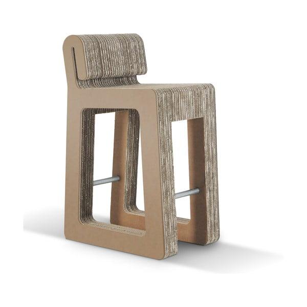 Barová kartonová židle Hook Stool Natural
