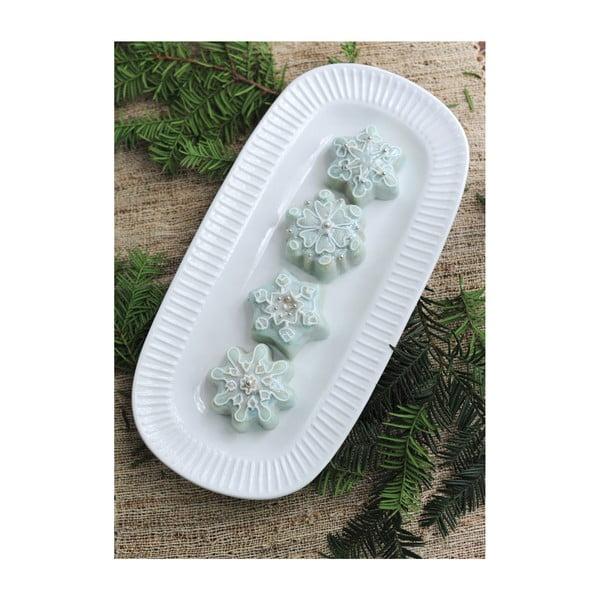 Forma na 6 mini bábovek ve stříbrné barvě Nordic Ware Snowflakes, 700 ml