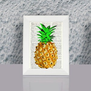 Zarámovaný obraz Dekorjinal Pouff Ananas, 23x17cm