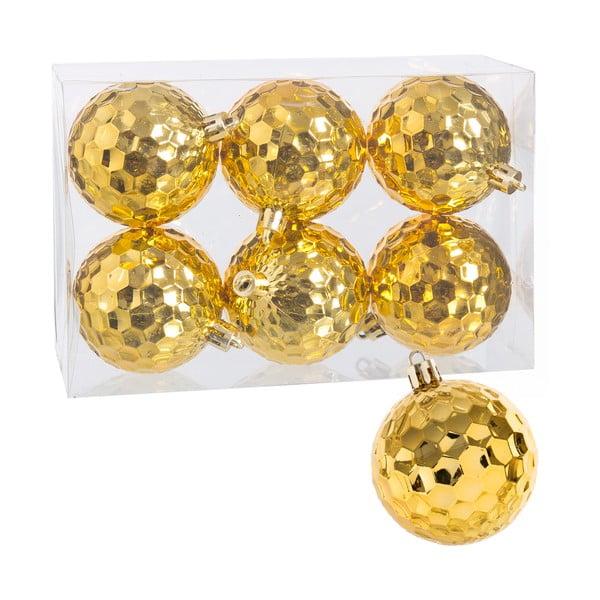 Sada 6 zlatých gúľ Unimasa