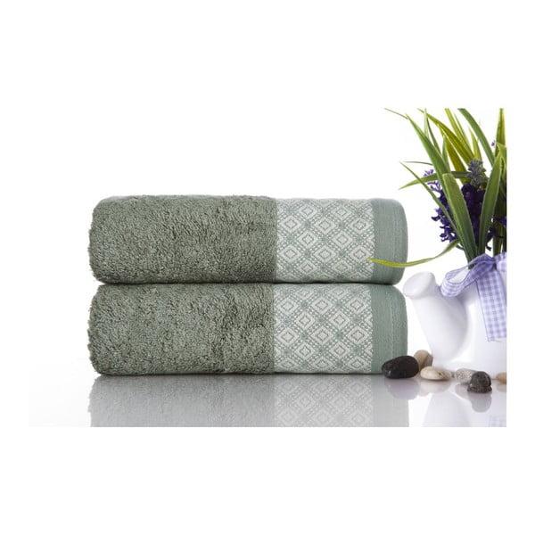 Sada 2ks ručníků Bamboo Polo Green, 50x90 cm