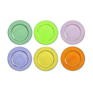 Sada 6 barevných talířů Villa d'Este Cascina, Ø 33 cm