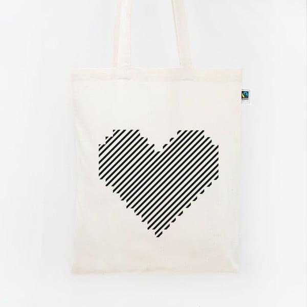 Plátěná taška Gestreiftes Herz