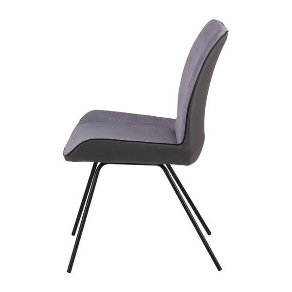 Set 2 scaune Sømcasa Norma, gri