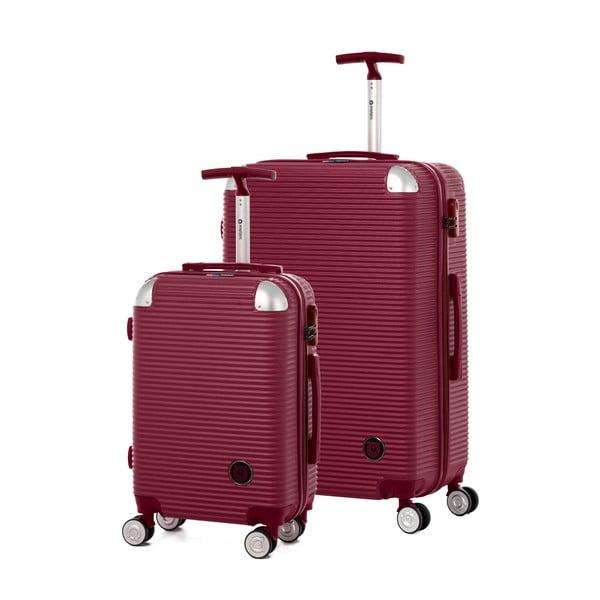 Set 2 valize călătorii pe roți Teddy Bear Faina