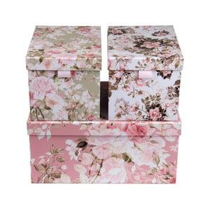 Sada 3 úložných boxů Tri-Coastal Design Dusty Floral