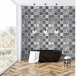 Sada 60 dekorativních samolepek na zeď Ambiance Allizéa, 20x20cm