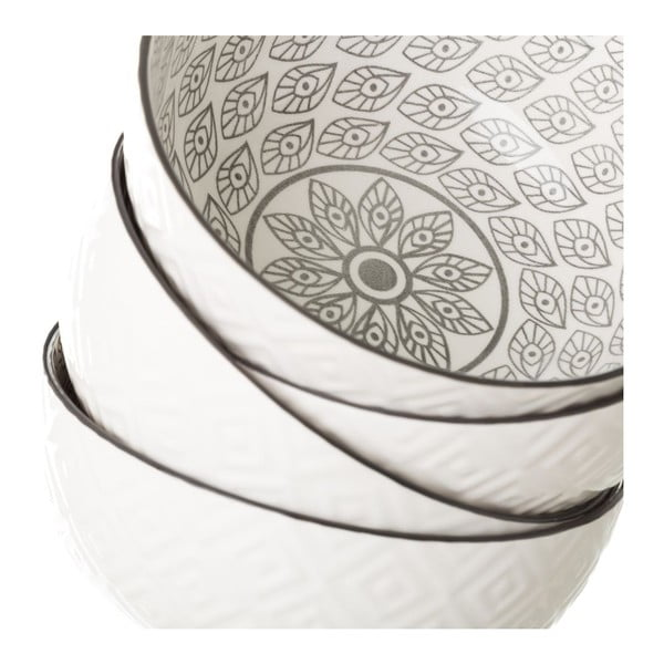 Šedobílá porcelánová miska Unimasa Mandy, Ø14,9cm