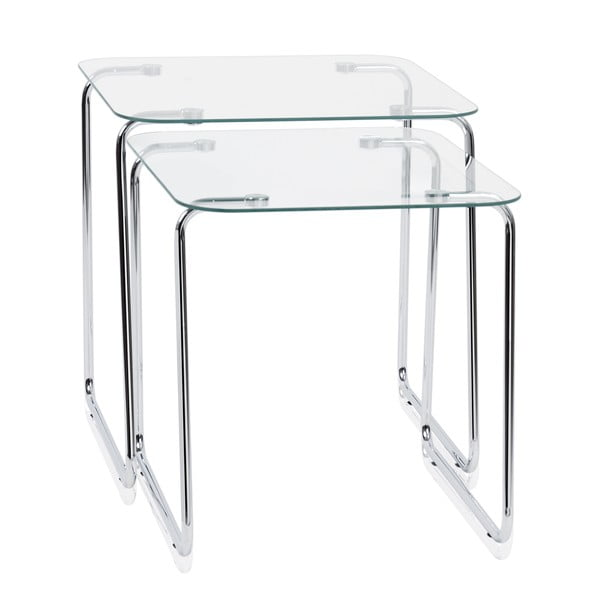 Sada 2 stolků Glass Tables
