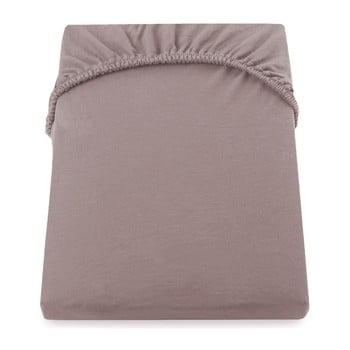 Cearșaf de pat cu elastic DecoKing Nephrite, 180–200 cm, maro-bej deschis imagine